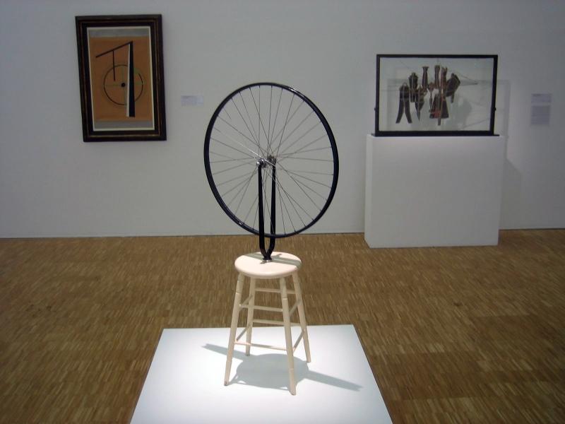 Duchamp, roue de bicyclette, 1913