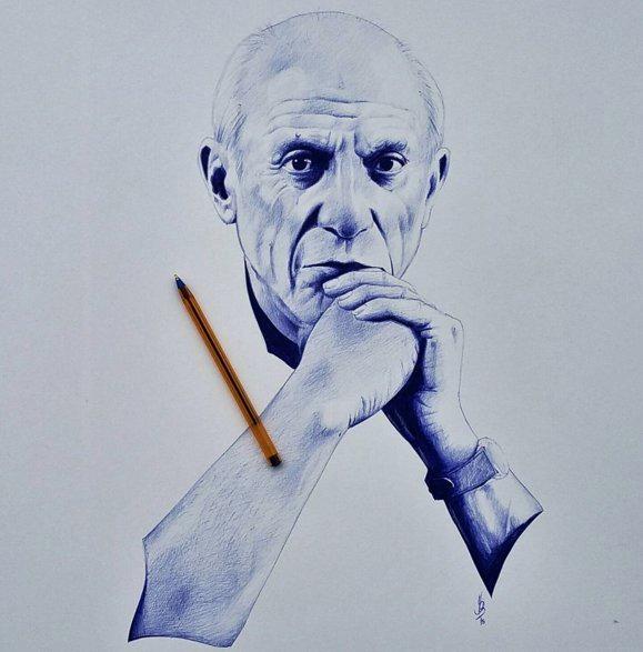 Portrait de Picasso par Yousseff Boubekeur
